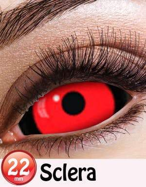 COLORED CONTACTS FULL EYES SCLERA DRACULA - Lens Beauty Queen