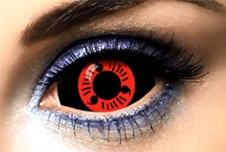 COLORED CONTACTS FULL EYES SCLERA SHARINGAN - Lens Beauty Queen