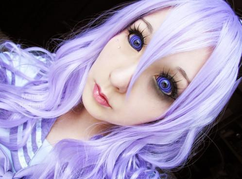 COLORED CONTACTS FULL EYES SCLERA VIOLET COLOSSUS - Lens Beauty Queen