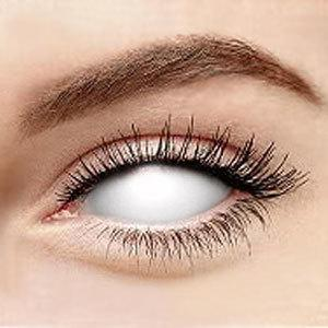 COLORED CONTACTS FULL EYES SCLERA WHITE BLIND - Lens Beauty Queen