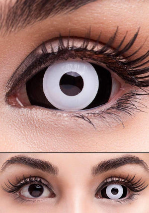 COLORED CONTACTS FULL EYES SCLERA WHITE OUT - Lens Beauty Queen
