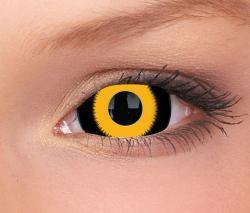 COLORED CONTACTS FULL EYES SCLERA YELLOW GHOUL - Lens Beauty Queen