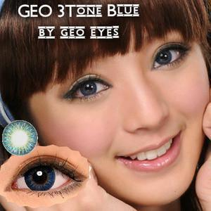 COLORED CONTACTS GEO 3 TONE BLUE - Lens Beauty Queen