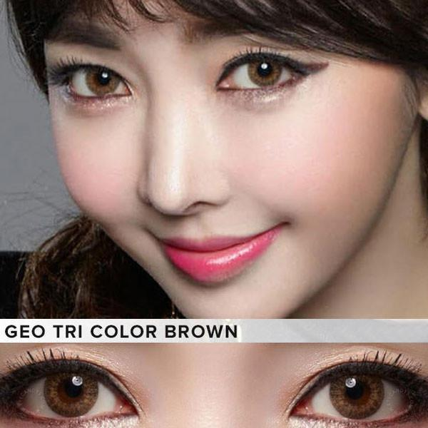 COLORED CONTACTS GEO 3 TONE BROWN - Lens Beauty Queen