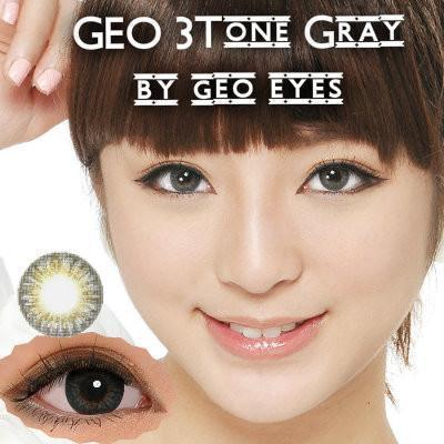 COLORED CONTACTS GEO 3 TONE GRAY - Lens Beauty Queen