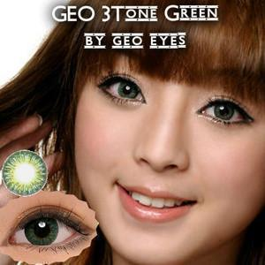 COLORED CONTACTS GEO 3 TONE GREEN - Lens Beauty Queen