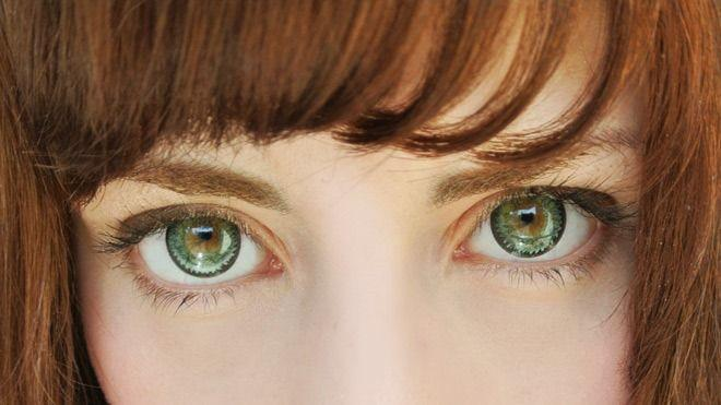 COLORED CONTACTS GEO NUDY GREEN CH623 - Lens Beauty Queen