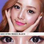 COLORED CONTACTS GEO EXTRA MAGIC BLACK XCK-105 - Lens Beauty Queen
