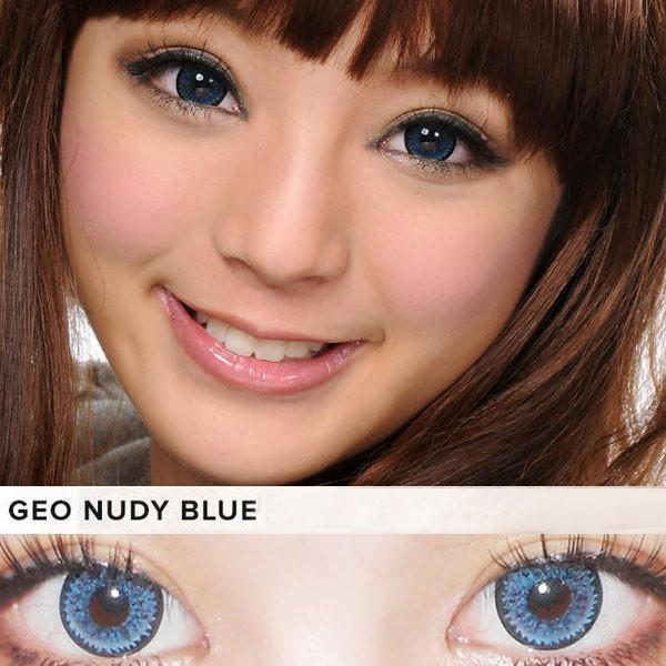 COLORED CONTACTS GEO NUDY BLUE - Lens Beauty Queen