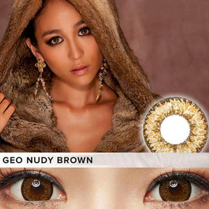 COLORED CONTACTS GEO NUDY BROWN XCH622 - Lens Beauty Queen