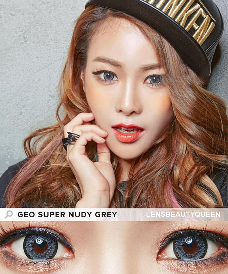COLORED CONTACTS GEO NUDY GRAY - Lens Beauty Queen
