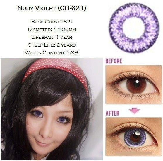 COLORED CONTACTS GEO NUDY VIOLET - Lens Beauty Queen