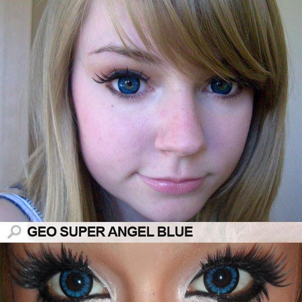 COLORED CONTACTS GEO SUPER ANGEL BLUE - Lens Beauty Queen