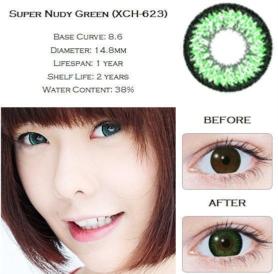 COLORED CONTACTS GEO XCH623 GREEN - Lens Beauty Queen