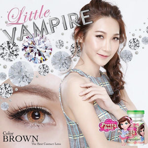 COLORED CONTACTS LITTLE VAMPIRE BROWN - Lens Beauty Queen