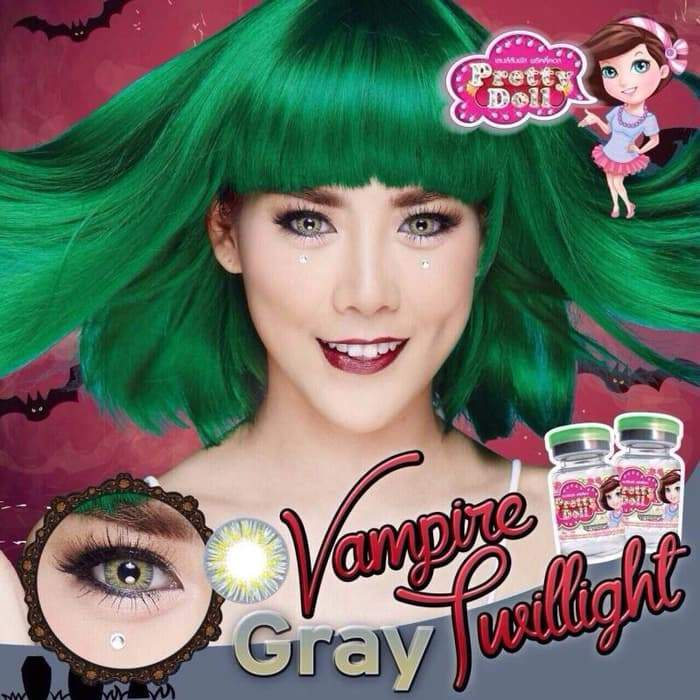 COLORED CONTACTS LITTLE VAMPIRE GRAY - Lens Beauty Queen