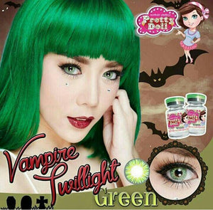 COLORED CONTACTS LITTLE VAMPIRE GREEN - Lens Beauty Queen