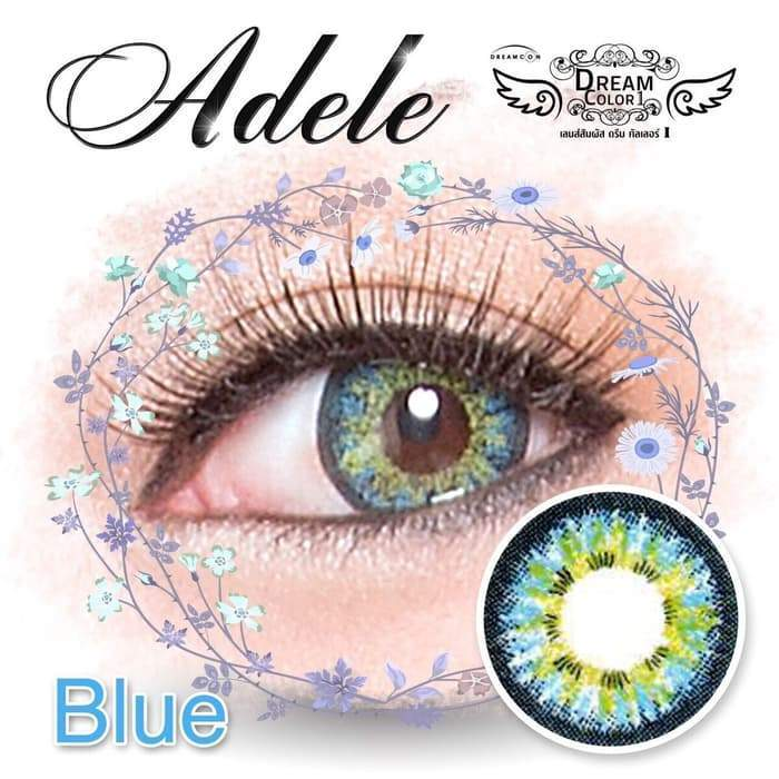 COLORED CONTACTS PRETTY ADELE BLUE - Lens Beauty Queen
