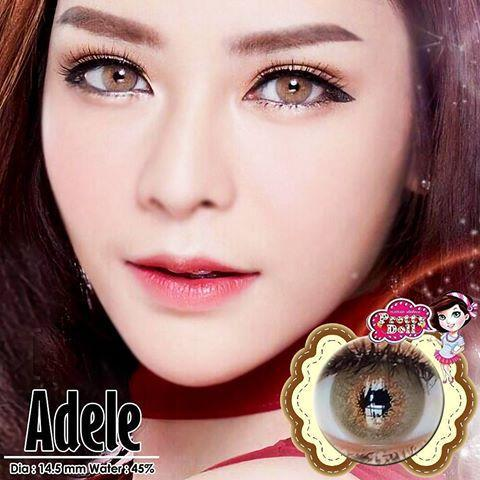 COLORED CONTACTS PRETTY ADELE BROWN - Lens Beauty Queen
