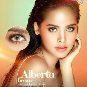 COLORED CONTACTS PRETTY ALBERTA BROWN - Lens Beauty Queen