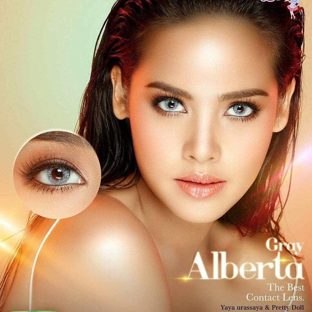 COLORED CONTACTS PRETTY ALBERTA GRAY - Lens Beauty Queen