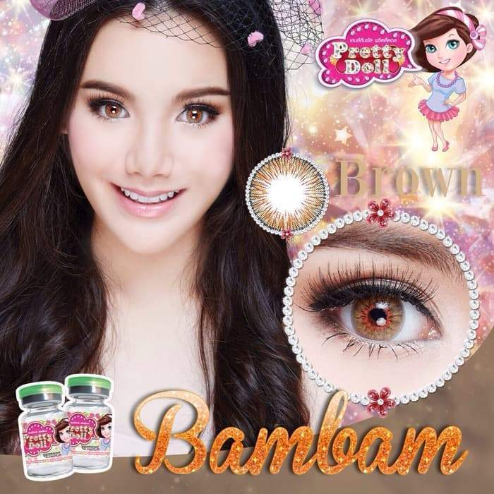 COLORED CONTACTS PRETTY DOLL BAMBAM BROWN - Lens Beauty Queen