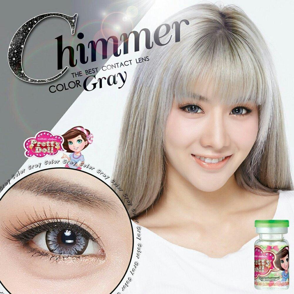 COLORED CONTACTS PRETTY DOLL CHIMMER GRAY - Lens Beauty Queen