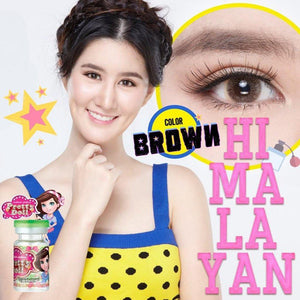 COLORED CONTACTS PRETTY DOLL HIMALAYAN BROWN - Lens Beauty Queen
