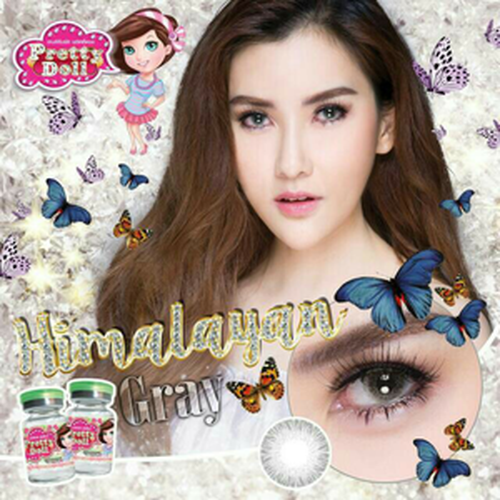 COLORED CONTACTS PRETTY DOLL HIMALAYAN GRAY - Lens Beauty Queen