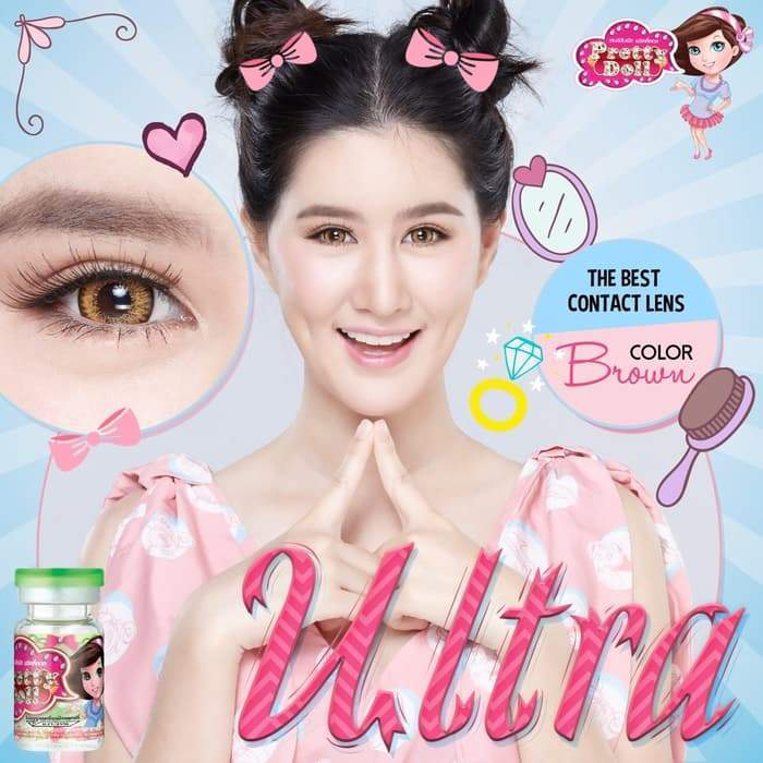 COLORED CONTACTS PRETTY DOLL ULTRA BROWN - Lens Beauty Queen