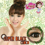 COLORED CONTACTS PRETTY SUPER BLACK - CHOCO - Lens Beauty Queen