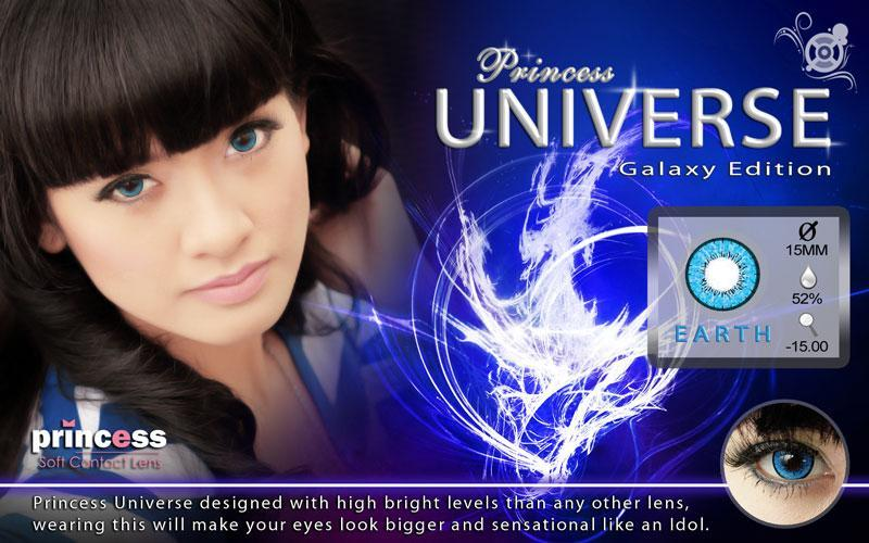 COLORED CONTACTS PRINCESS UNIVERSE EARTH - Lens Beauty Queen