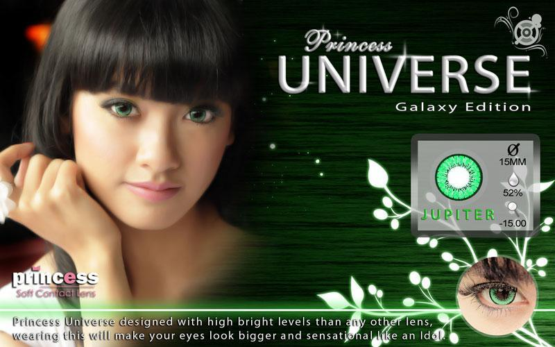COLORED CONTACTS PRINCESS UNIVERSE JUPITER - Lens Beauty Queen
