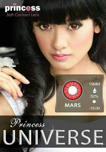 COLORED CONTACTS PRINCESS UNIVERSE RED - Lens Beauty Queen