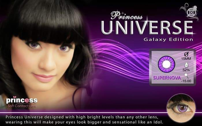 COLORED CONTACTS PRINCESS UNIVERSE SUPER NOVA - Lens Beauty Queen