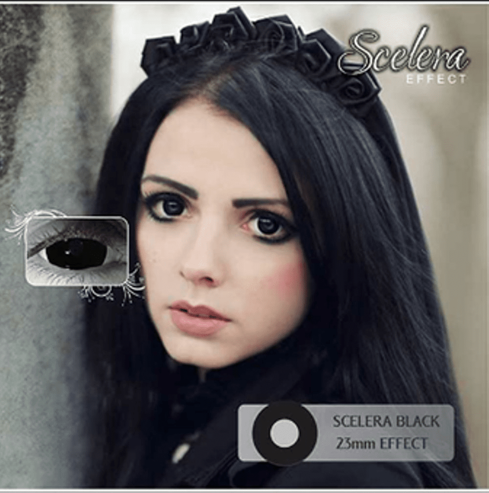 COLORED CONTACTS SCLERA BLACK - Lens Beauty Queen
