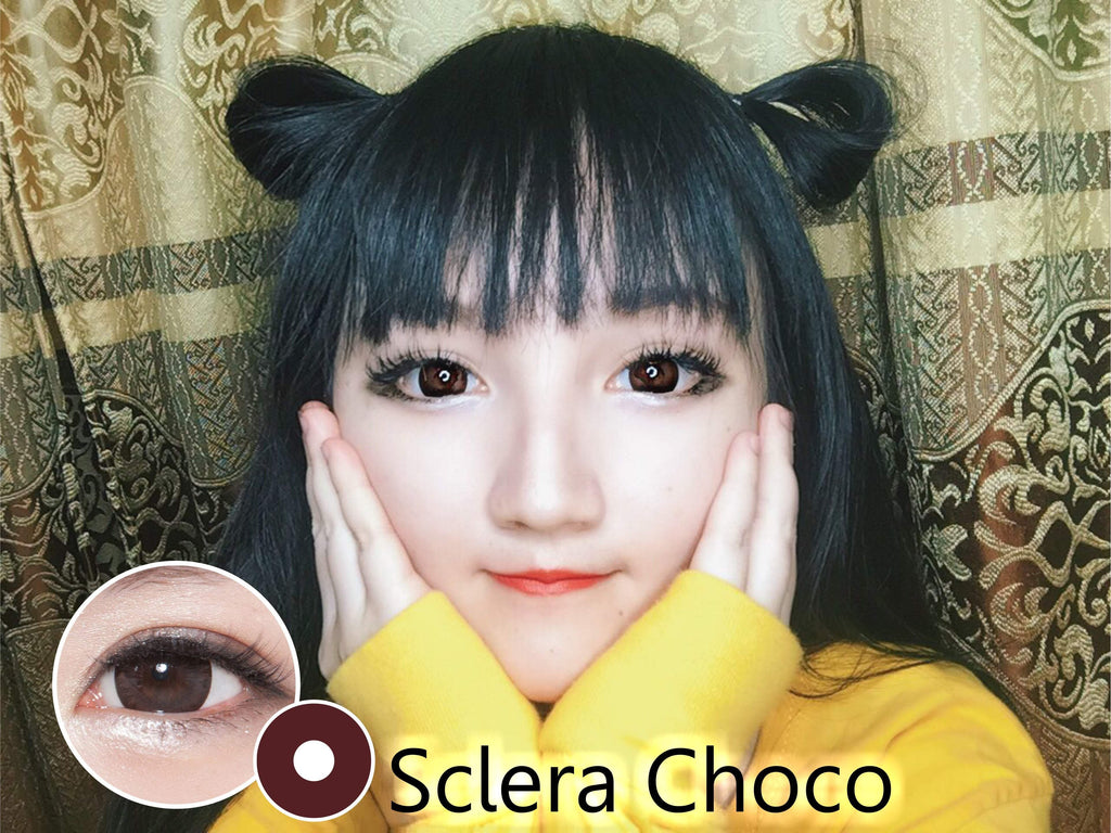 COLORED CONTACTS SCLERA CHOCO - Lens Beauty Queen