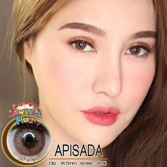 COLORED CONTACTS SWEETY APISADA BROWN - Lens Beauty Queen