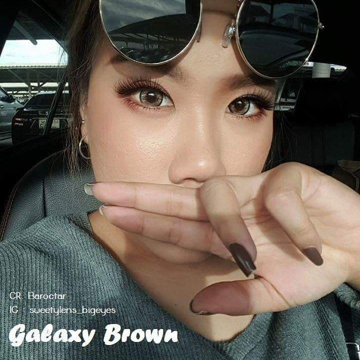 COLORED CONTACTS SWEETY GALAXY BROWN - Lens Beauty Queen