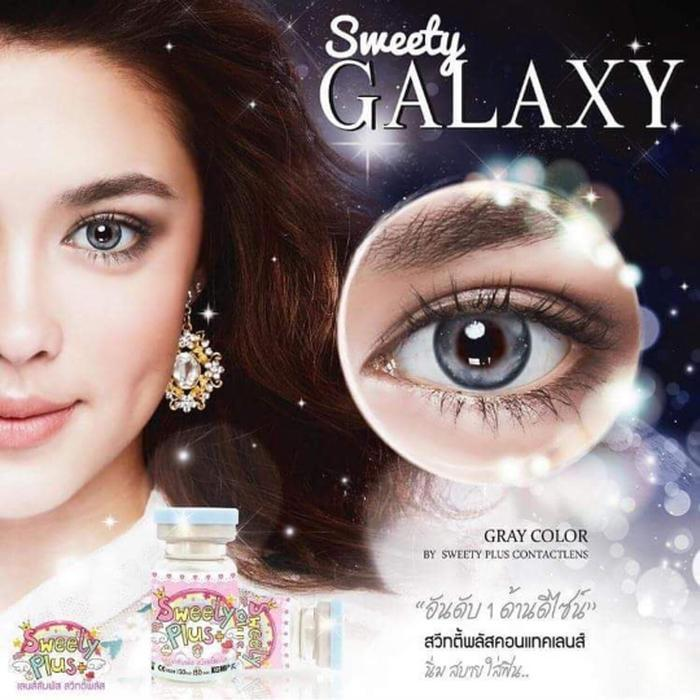 COLORED CONTACTS SWEETY GALAXY GRAY - Lens Beauty Queen