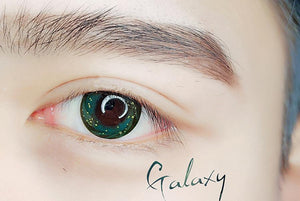 COLORED CONTACTS SWEETY GALAXY GREEN - Lens Beauty Queen