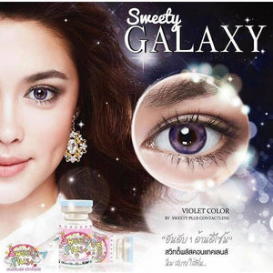 COLORED CONTACTS SWEETY GALAXY VIOLET - Lens Beauty Queen