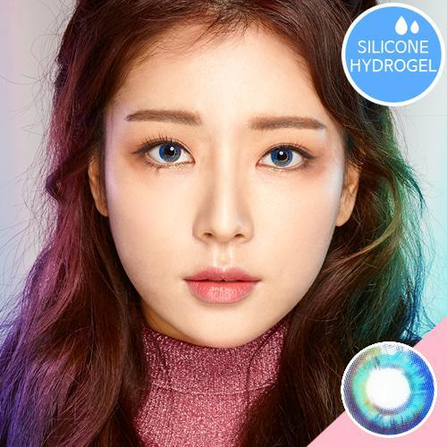 COLORED CONTACTS SWEETY LUNA PRISM BLUE - Lens Beauty Queen