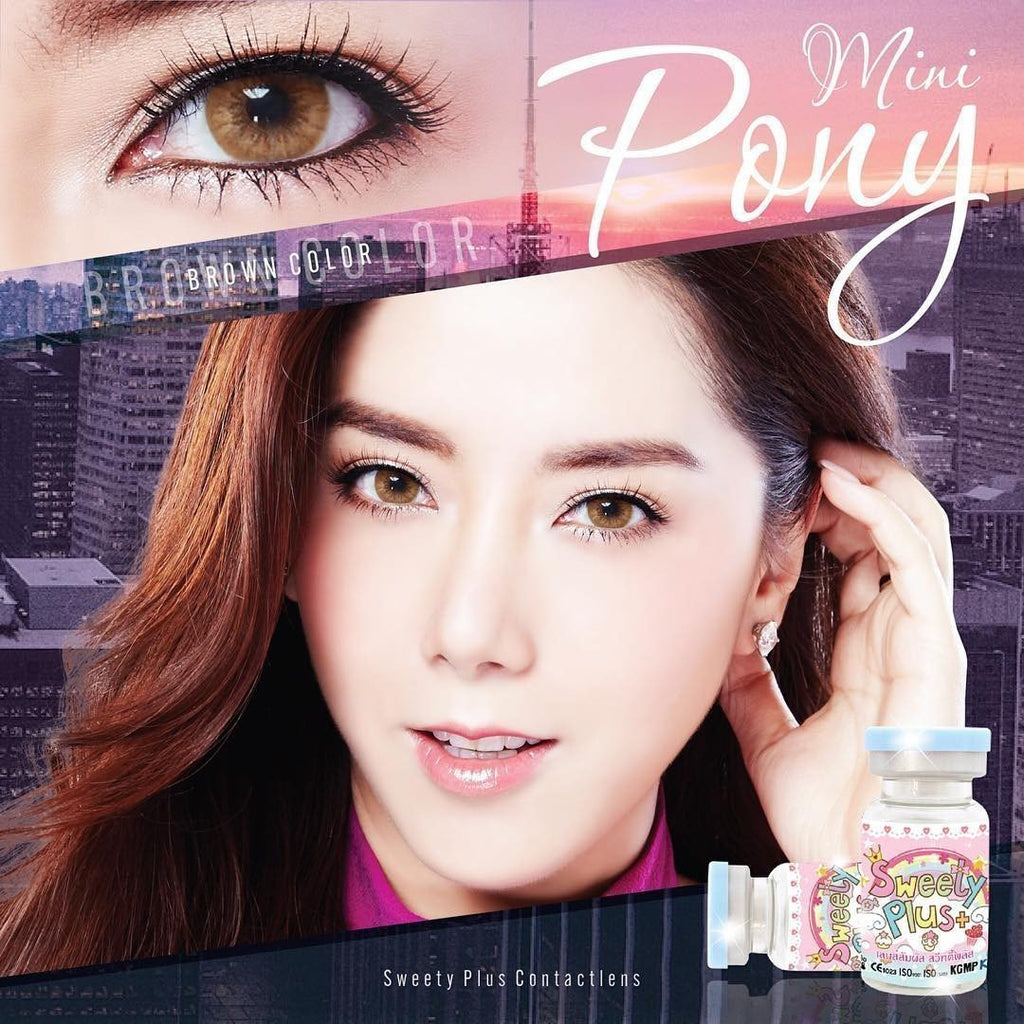 COLORED CONTACTS SWEETY PONY BROWN - Lens Beauty Queen