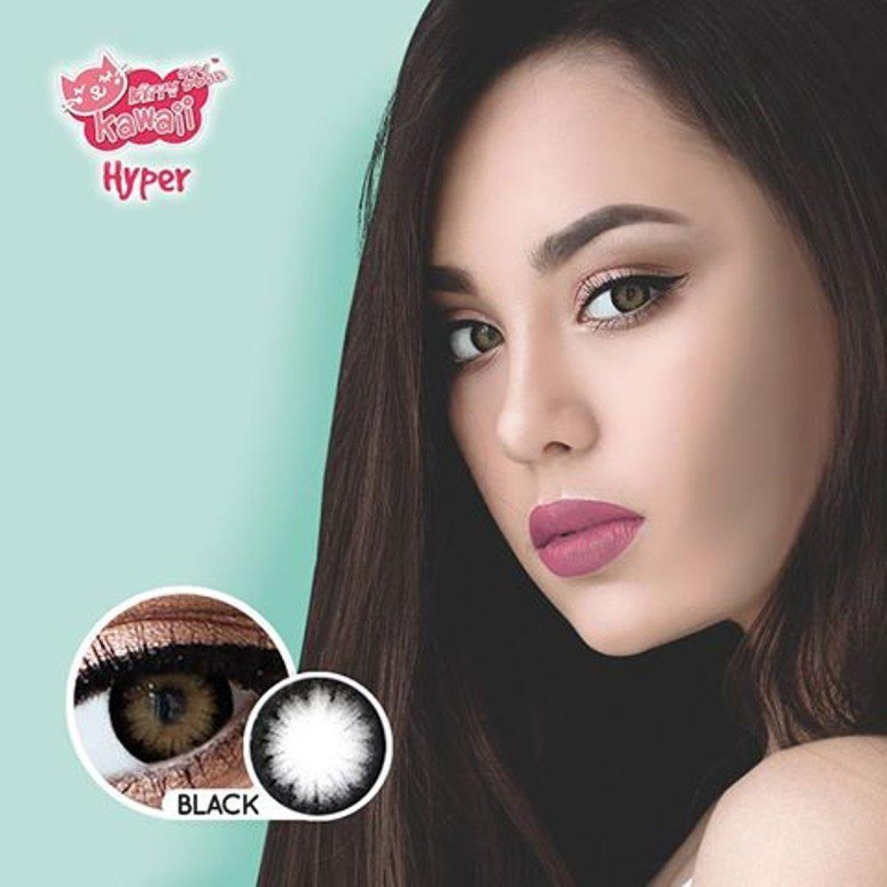 COLORED CONTACTS KITTY HYPER BLACK - Lens Beauty Queen