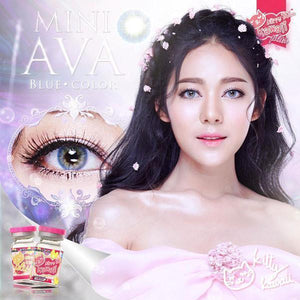 COLORED CONTACTS KITTY MINI AVA BLUE - Lens Beauty Queen