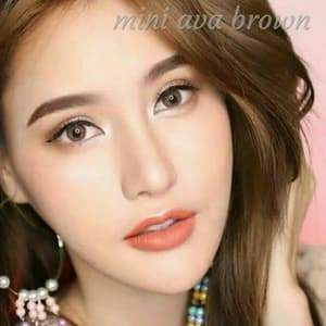 COLORED CONTACTS KITTY MINI AVA BROWN - Lens Beauty Queen