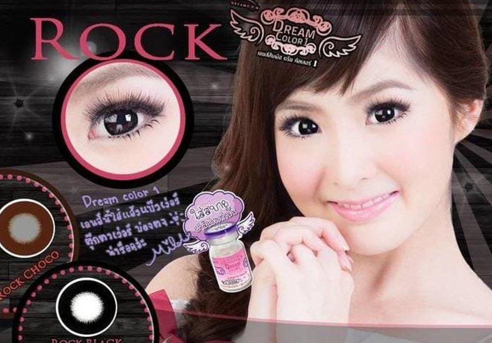 COLORED CONTACTS DREAM COLOR ROCK BLACK - Lens Beauty Queen