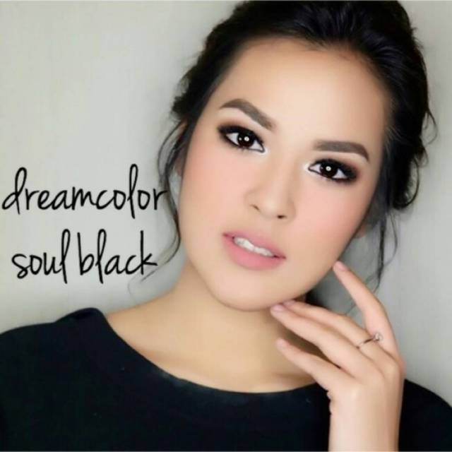 COLORED CONTACTS DREAM COLOR SOUL BLACK - Lens Beauty Queen