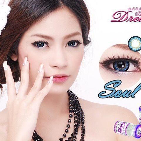 COLORED CONTACTS DREAM COLOR SOUL BLUE - Lens Beauty Queen